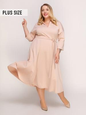 Сукня нюдового кольору | 4817366