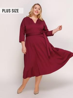Сукня кольору марсала | 4817369