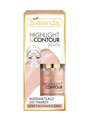Хайлайтер Highligh&Contour для лица (15 мл) — персиковый | 4817997