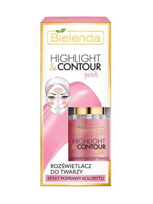 Хайлайтер Highligh&Contour для лица (15 мл) — розовый | 4817998