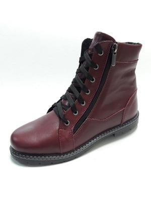 Ботинки бордовые | 4761420