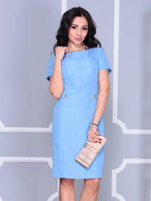 Платье голубое | 4807627