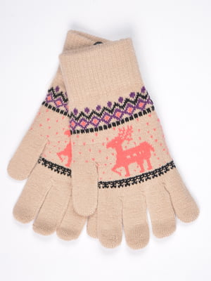 Перчатки бежевые | 4821708