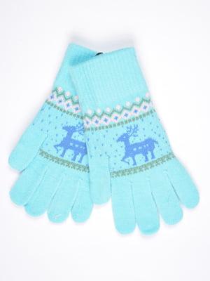 Перчатки голубые | 4821709