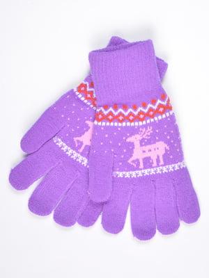 Рукавички фіолетові | 4821712