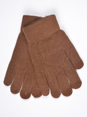Перчатки сенсорные коричневые | 4821757
