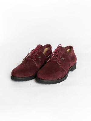 Туфлі бордові | 4822524