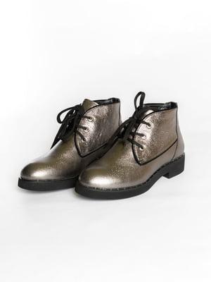 Ботинки серебристого цвета | 4822573