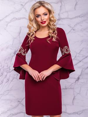 Платье цвета марсала | 4822879