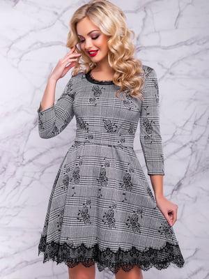 Платье серое в принт   4822912