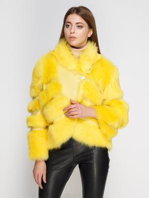 Дубленка желтая | 4705488