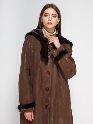 Дубленка коричневая | 4705361