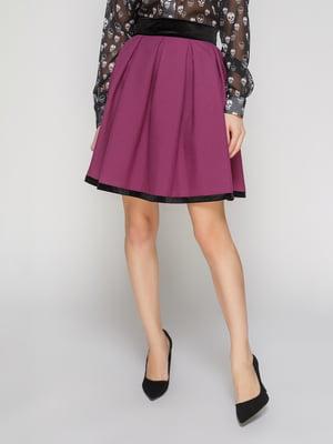 Юбка фиолетовая с бархатом | 3045929