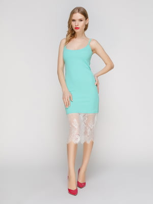 Платье мятного цвета | 3257975