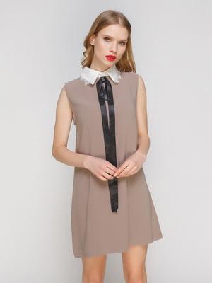 Платье кофейного цвета   2121399