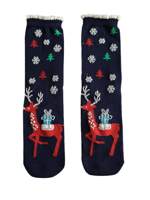 Шкарпетки темно-сині з малюнком підліткові | 4820831