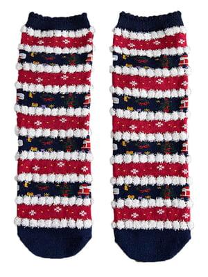 Шкарпетки темно-сині з малюнком підліткові | 4820862