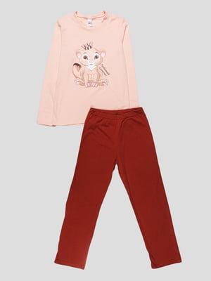 Піжама: лонгслів та штани | 4782936