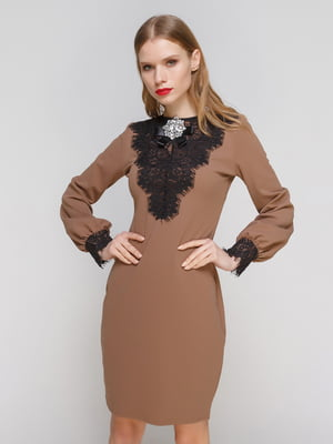 Платье кофейного цвета | 3182323