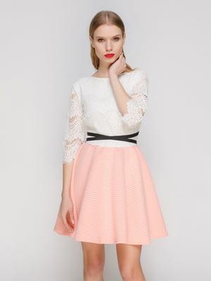 Сукня біло-рожева   3182328