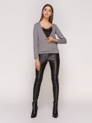 Пуловер темно-серый | 4821191