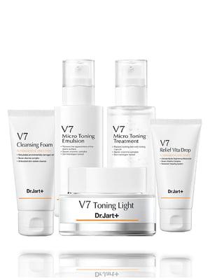 Набір засобів по догляду V7 Micro Toning Skin Care Set: емульсія для обличчя і лікувальний гель | 4825850