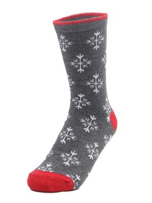 Носки серые с рисунком   4820846