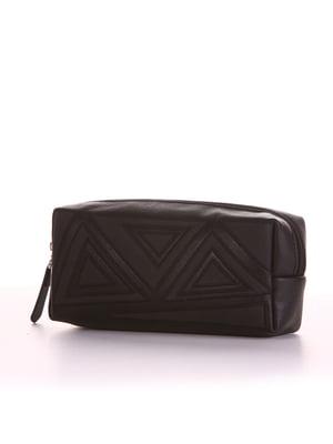 Косметичка чорна з вишивкою - Alba Soboni - 4825693