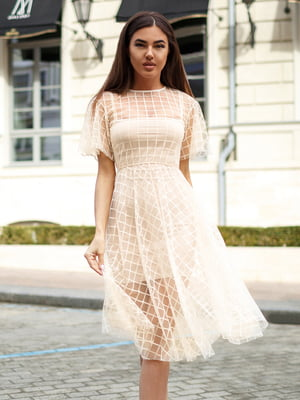 Платье бежевое   4645791