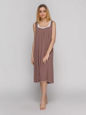 Сорочка нічна кольору мокко | 4761798