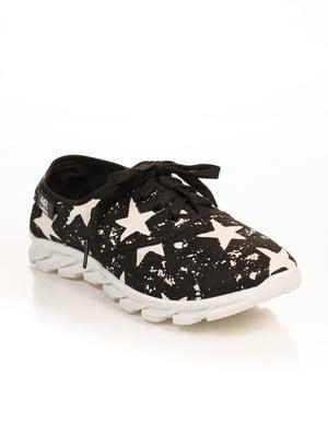 Кроссовки черные в принт | 4778835