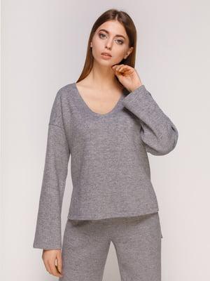 Пуловер темно-серый | 4821203