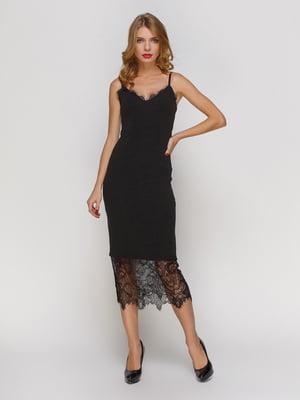 Сукня чорна з мереживом | 3257978