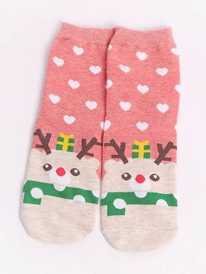 Шкарпетки рожеві з малюнком | 4820837