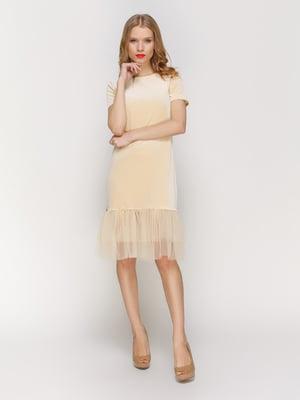 Платье бежевое | 3182319