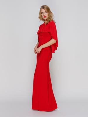 Сукня червона з відкритою спиною | 2003624