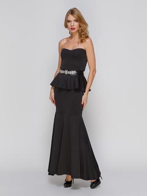 Сукня-бюстьє чорна | 2003626