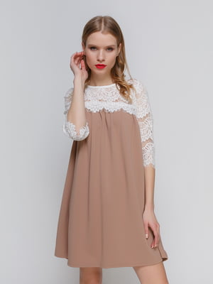 Платье бежево-белое   3182316