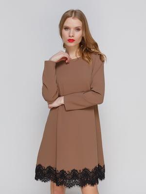 Платье коричневое | 2735488