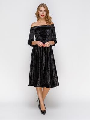 Сукня плісе з відкритими плечима - CELEBRITY - 3778203