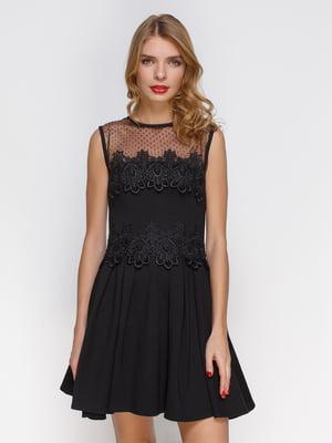 Платье в складку с французским кружевом   3778198
