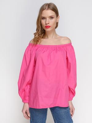 Блуза малинова з пишними рукавами | 2293414