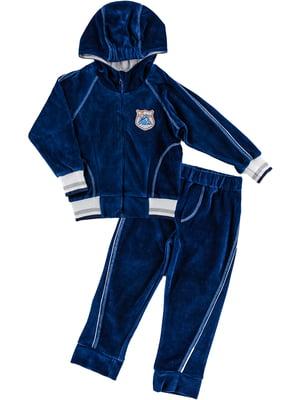 Комплект велюровий: кофта та штани | 4826253