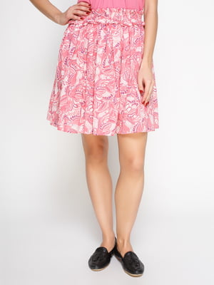 Юбка розовая в принт | 2187384