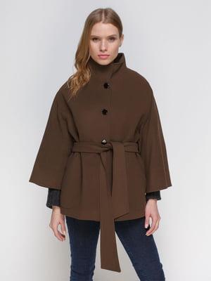 Пальто коричневе | 3652769