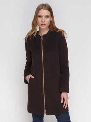 Пальто коричневе | 3652752