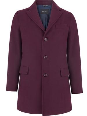 Пальто бордовое | 4822991