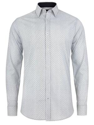 Сорочка біла в дрібний принт | 4823087