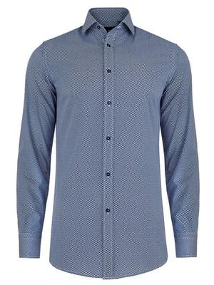 Рубашка синяя в горошек | 4823171