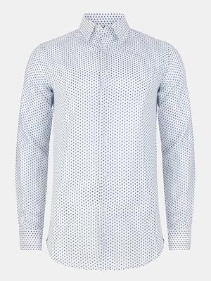 Рубашка белая в горошек | 4823188